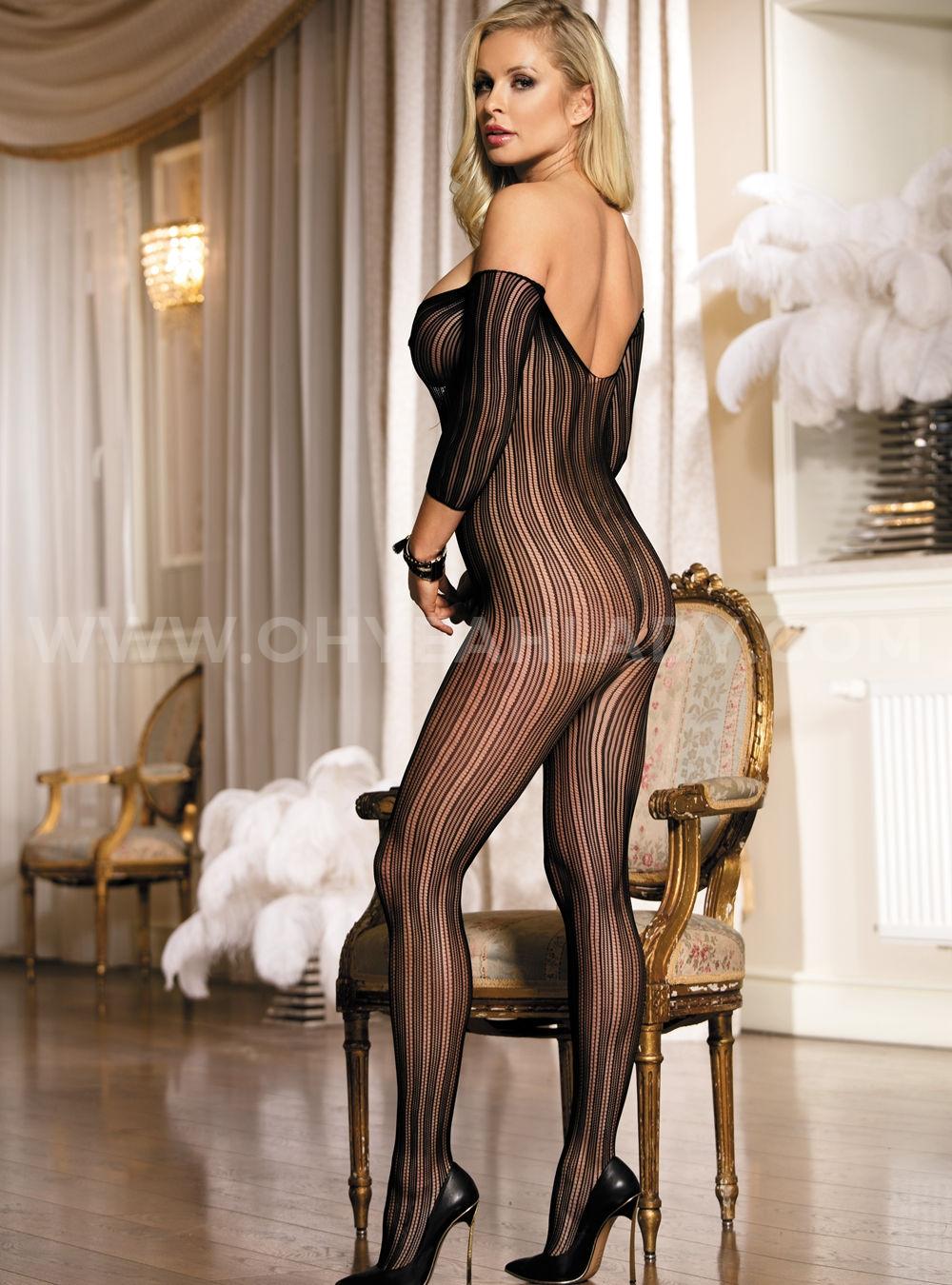 Women Sexy Lingerie Sheer Body Stockings Underwear Club Wear Babydoll Bodysuit